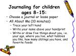 journaling for children ages 8 15