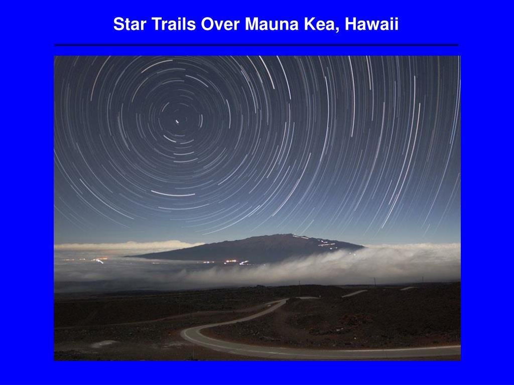 Star Trails Over Mauna Kea, Hawaii