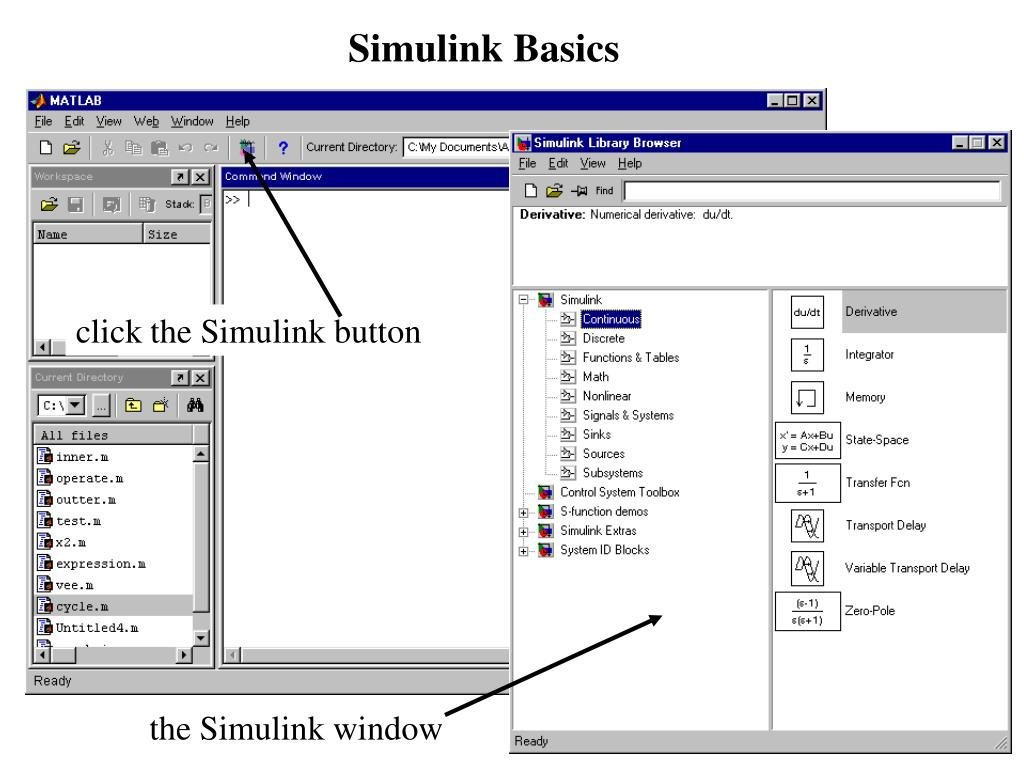 From Workspace Simulink