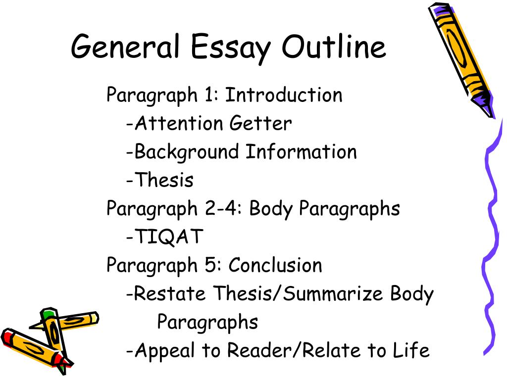 general essay outline l.