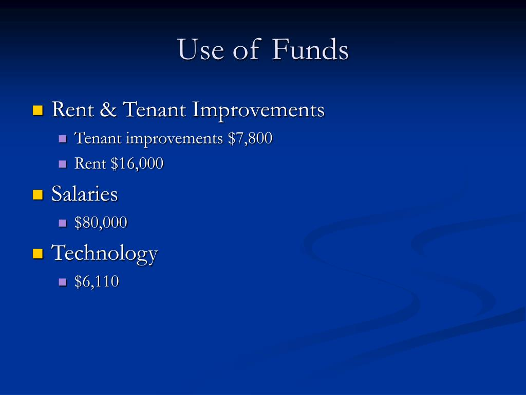 Use of Funds