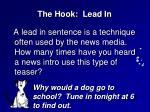 the hook lead in
