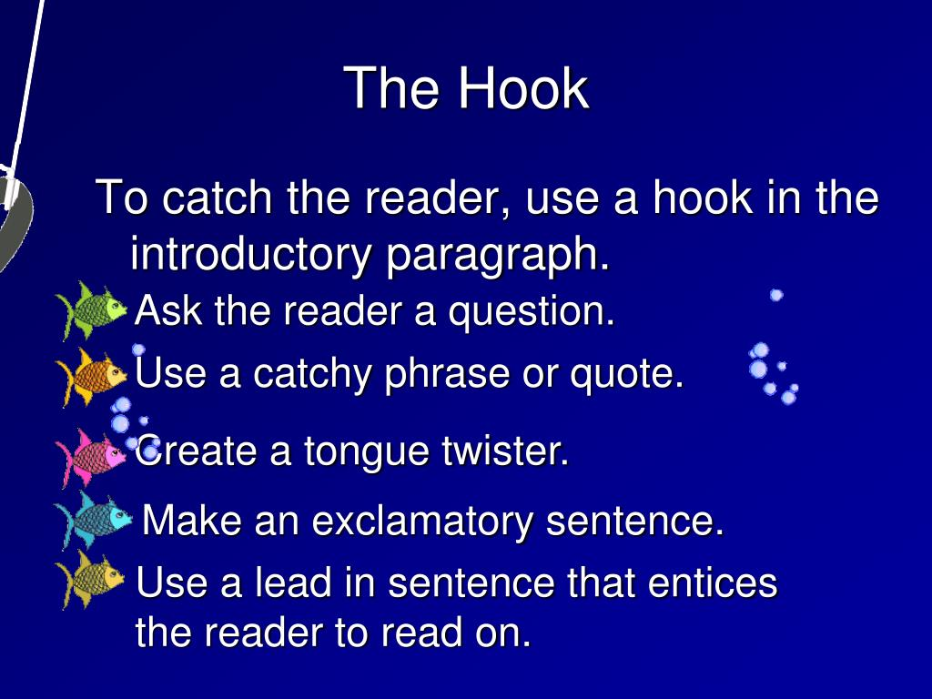 Ask the reader a question.