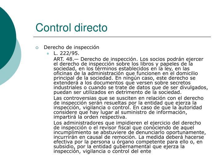 Control directo