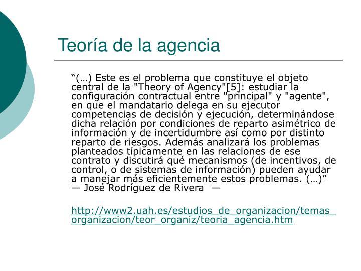 Teoría de la agencia