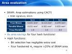area evaluation