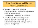 how does nature and nurture affect development