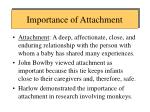 importance of attachment