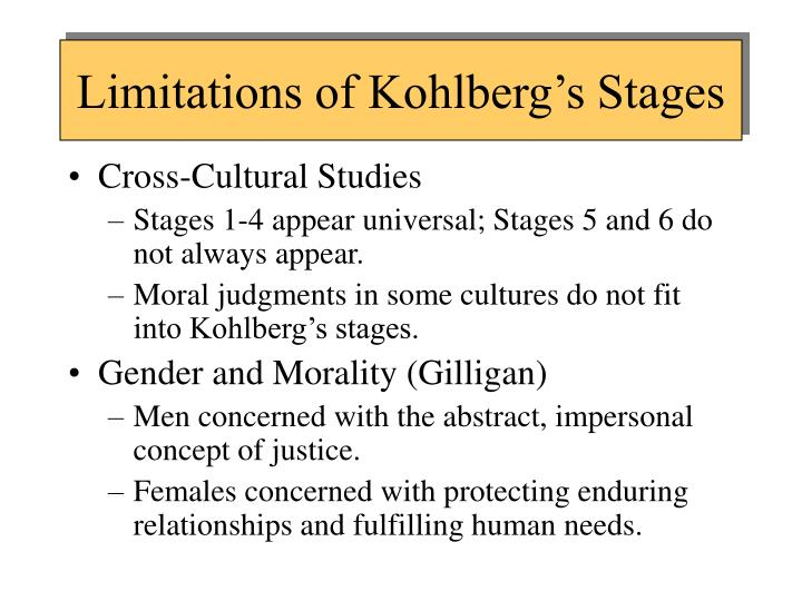 Limitations of Kohlberg's Stages