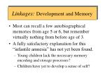 linkages development and memory