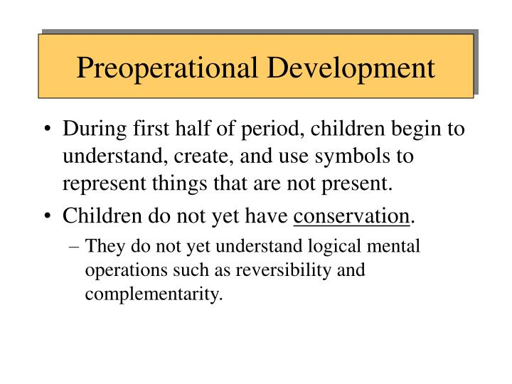 Preoperational Development