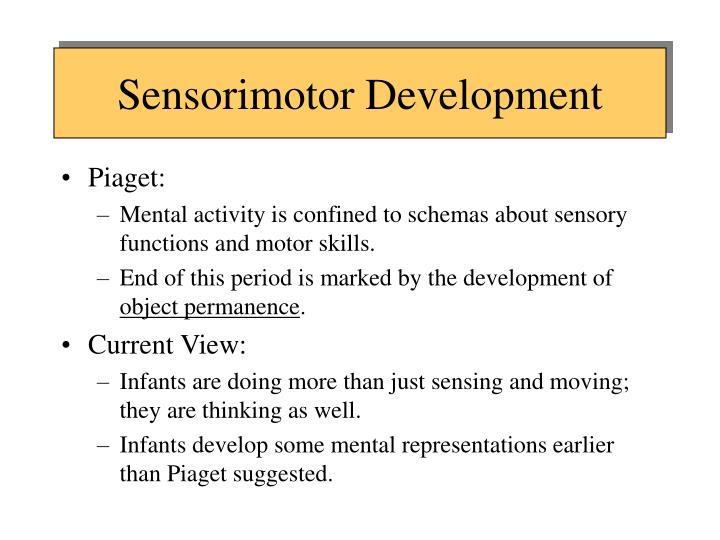 Sensorimotor Development