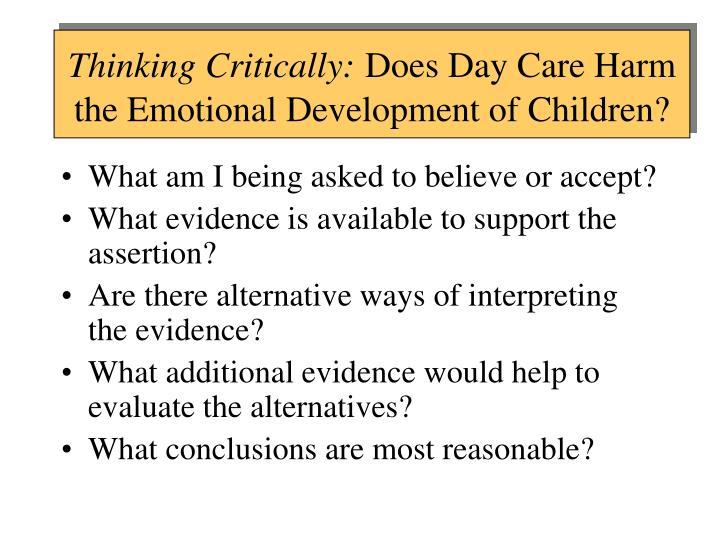 Thinking Critically:
