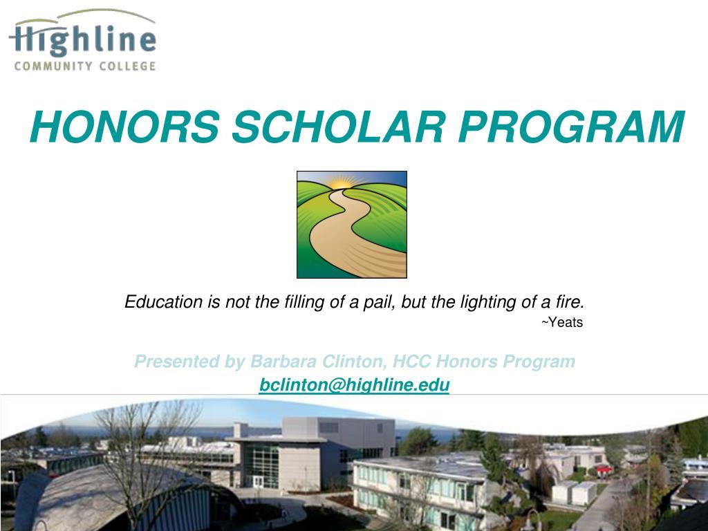 honors scholar program l.