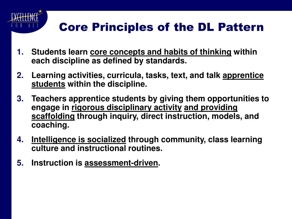 Core Principles of the DL Pattern