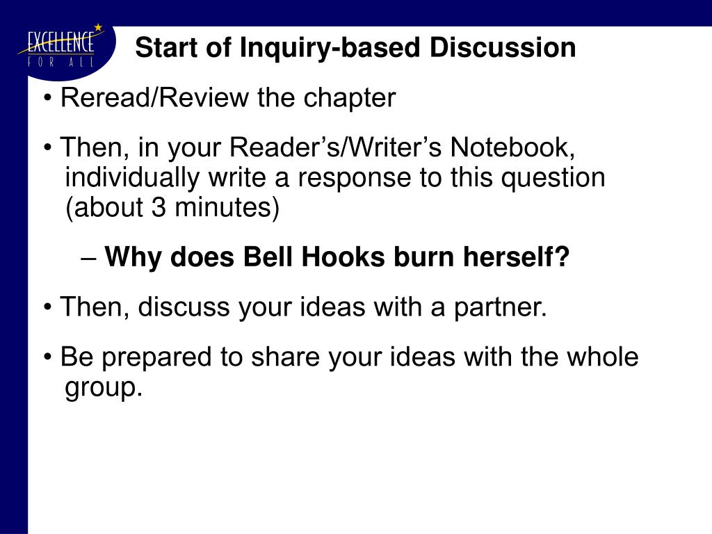 Start of Inquiry-based Discussion