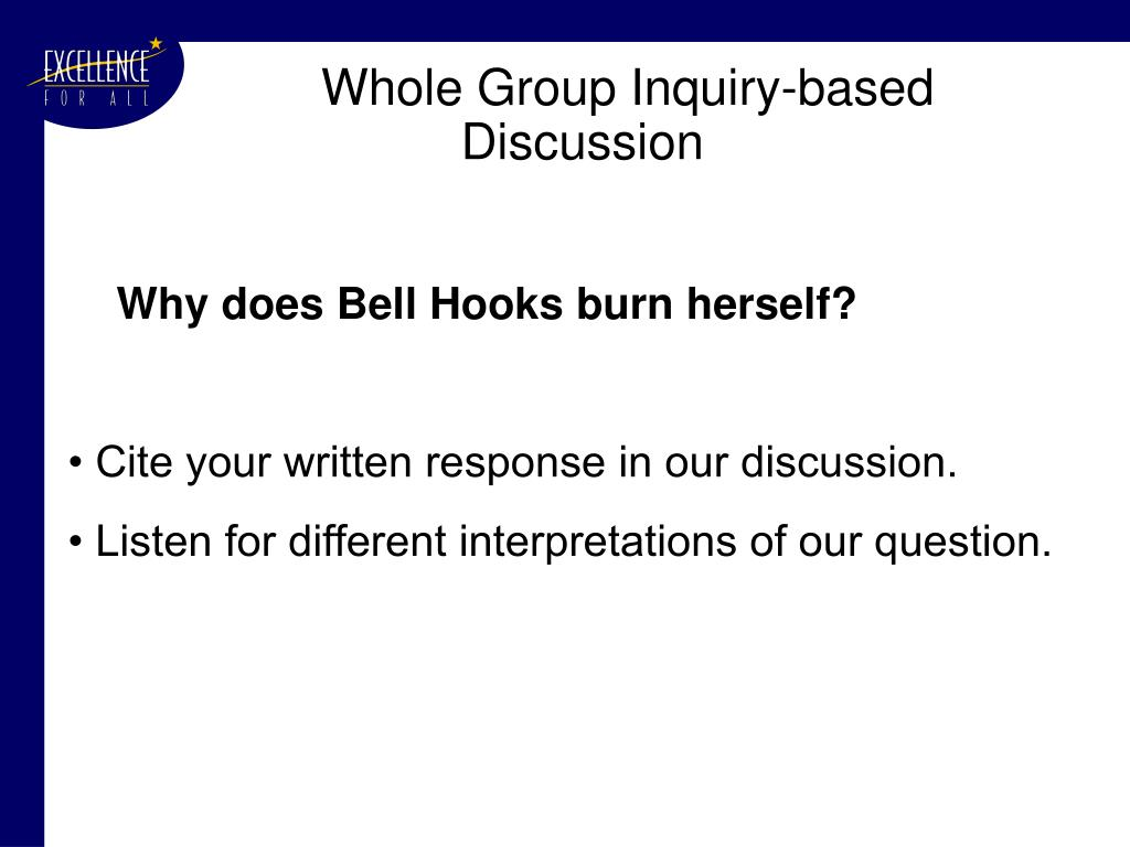 Whole Group Inquiry-based Discussion