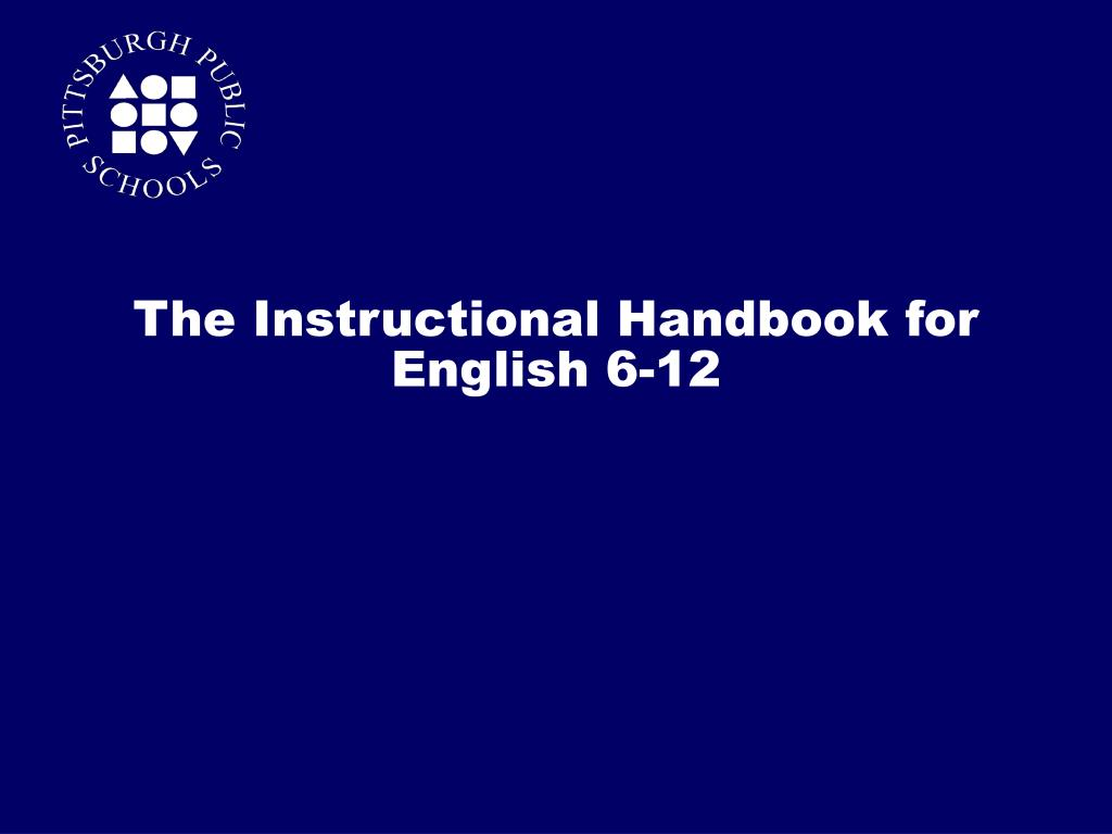 The Instructional Handbook for English 6-12
