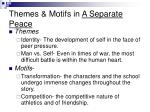 themes motifs in a separate peace