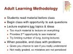 adult learning methodology
