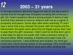 2003 31 years