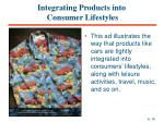 integrating products into consumer lifestyles