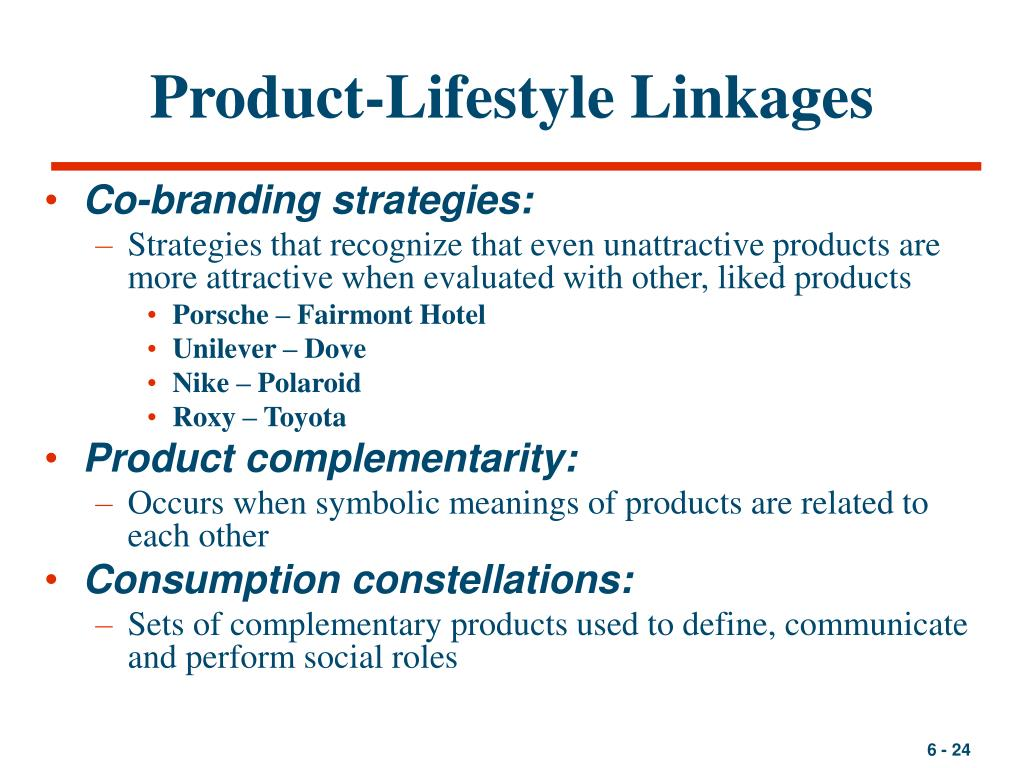 Product-Lifestyle Linkages