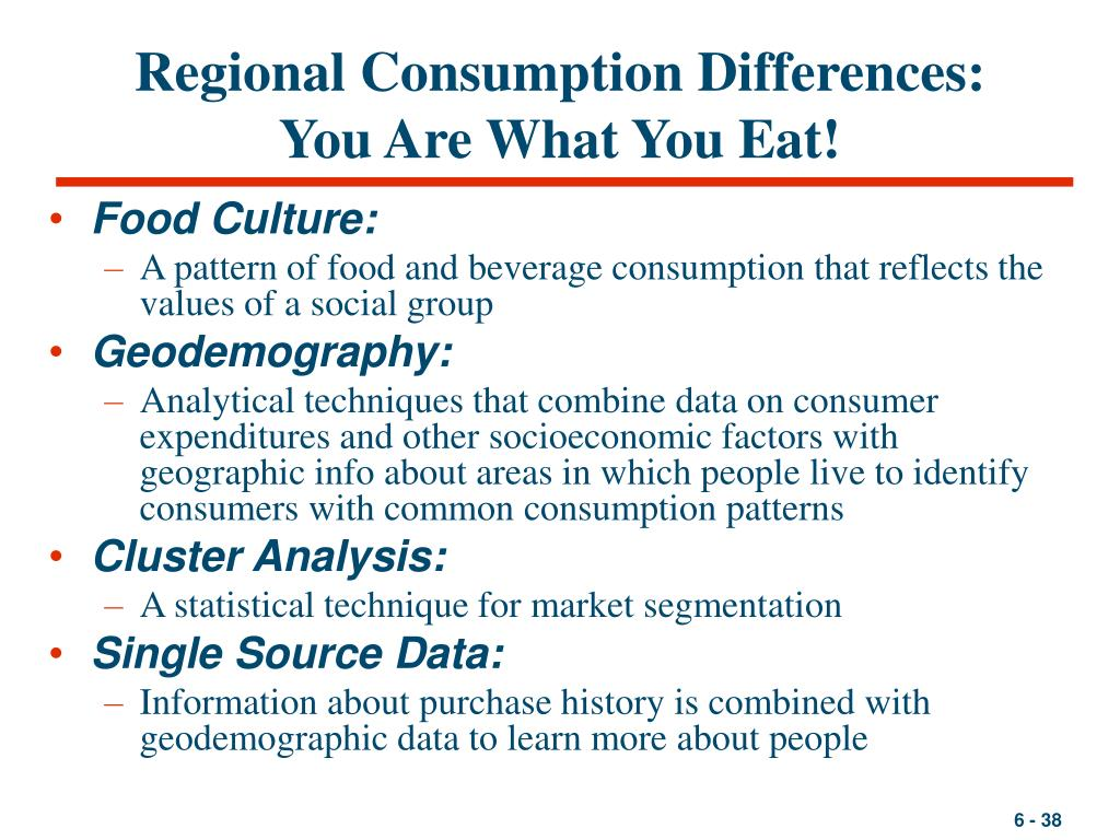 Regional Consumption Differences: