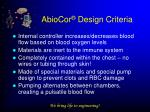 abiocor design criteria17