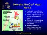 how the abiocor heart works