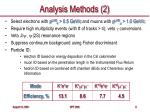 analysis methods 2