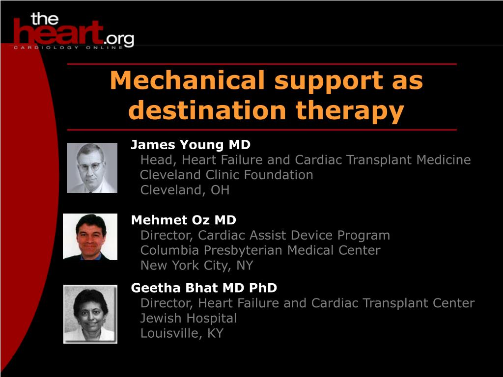 mechanical support as destination therapy l.