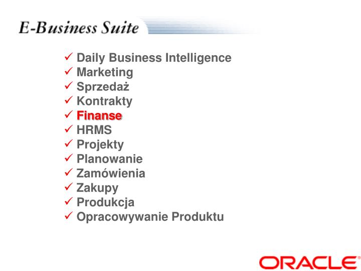 Daily Business Intelligence