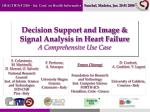 decision support and image signal analysis in heart failure a comprehensive use case