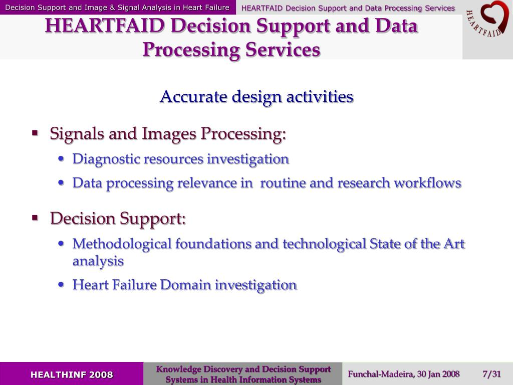 HEARTFAID Decision Support and Data Processing Services