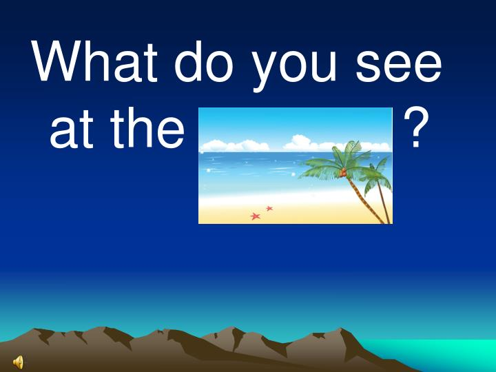 What do you see at the