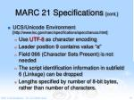 marc 21 specifications cont