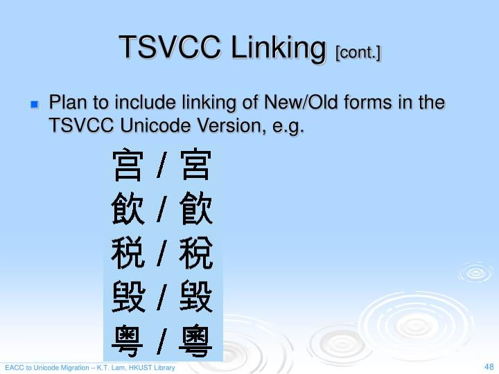 TSVCC Linking