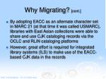 why migrating cont