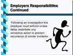 employers responsibilities continued2