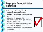employers responsibilities continued3