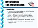 investigation tips and guidelines1