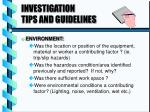 investigation tips and guidelines2