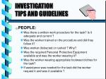 investigation tips and guidelines3