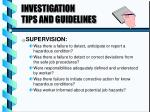 investigation tips and guidelines4
