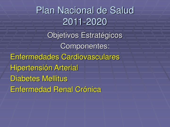 Plan nacional de salud 2011 20201