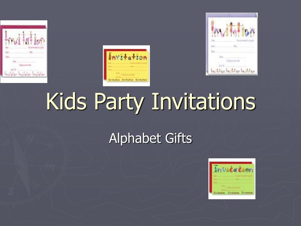 kids party invitations l.