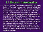 1 1 hebrew introduction