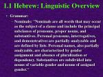 1 1 hebrew linguistic overview34