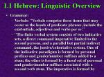 1 1 hebrew linguistic overview35